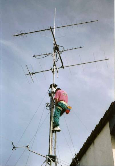 antennes à boucle pour l'installation du grenier